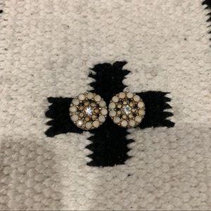 BP round jewel blush stud earrings